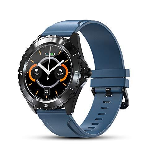 Smart Watch für Männer, IP68 Wasserdichter Touchscreen Herren Damen Fitness-Tracker Uhr mit Herzfrequenz Schlaf-Tracking Schrittzähler Benachrichtigung Activity Tracker Sportuhr für iPhone Android