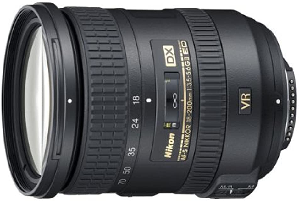 Nikon AF-S DX 18-200mm F3.5-5.6 G ED VR II - Objetivo con montura para Montura F de Nikon (distancia focal 27-300mm  apertura f/3.5 estabilizador de imagen)