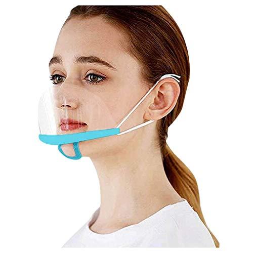 YAYUMI 30pcs Adults Visible Face Bandanas Reusable Anti Splashing Dustproof Protection Plastic for Chef Kitchen Nail Salon SPA Restaurant Service