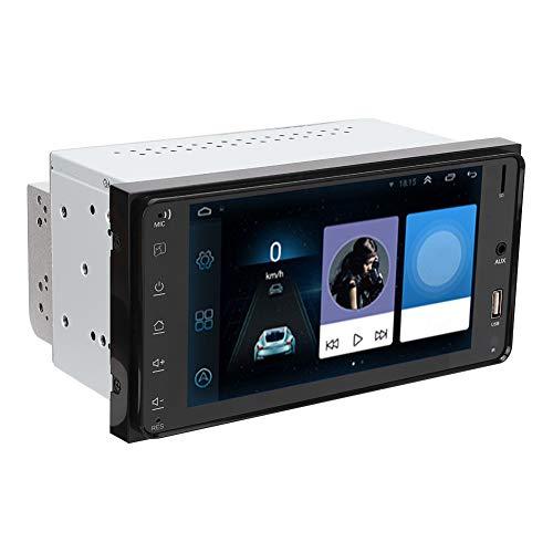 Reproductor de radio de automóvil, dispositivo de navegación 7in Soporte control de volante con ABS y aleación de aluminio RAM 1G, ROM 16G para iOS de un lado