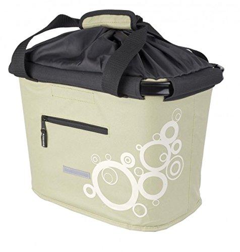 LENKERKORB-Tasche abnehmbar,grünbeige/Ringe