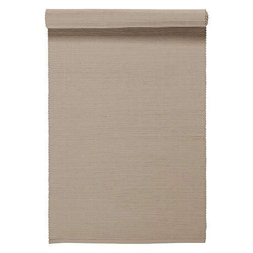 LINUM UNI Chemin de Table décoratif 45 x 150 cm en Coton côtelé, Lavable en Machine, Beige Foncé
