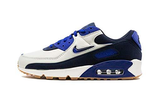 Nike Zapatillas para hombre Low Air Max 90 Premium, color Azul, talla 46 EU