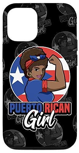 iPhone 12/12 Pro Puerto Rican Girl - Strong Boricua Woman - Puerto Rico Flag Case