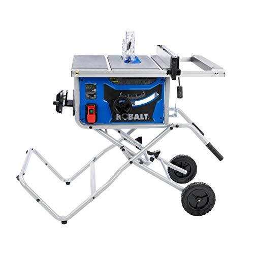 Kobalt Corded 15-Amp Table Saw 10-in Blade 5000RPM with Mitre and Bevel Adjustments, Carbide-Tipped, Dust Port