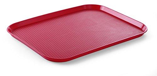 HENDI Bandejas para comida rápida (grande) - Rojo - 350x450x(H)20 mm