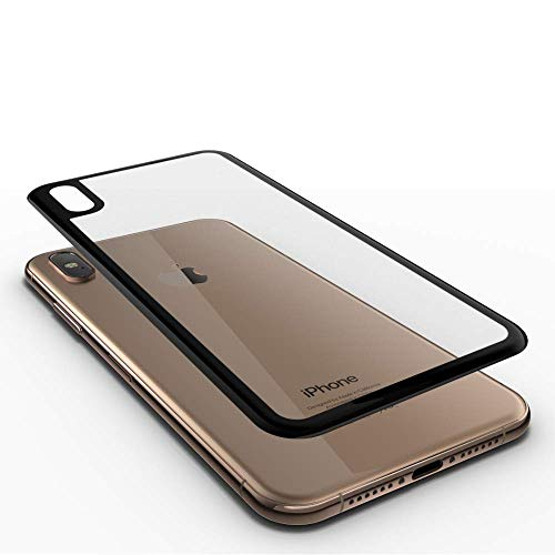 GLAZ Hybrid geeignet für iPhone XS Max Rückseite Panzerglas durchsichtig, Rückseite Folie, Full Cover, Mit Applikator, Staubfrei, Blasenfrei, Premium Rückseiten Glas, Rückseitenschutz, 100% Passgenau