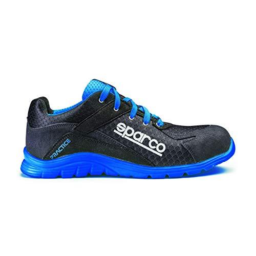 SPARCO 0751744NRAZ Practice Schuhe Schwarz/Blau Größe 44, EU
