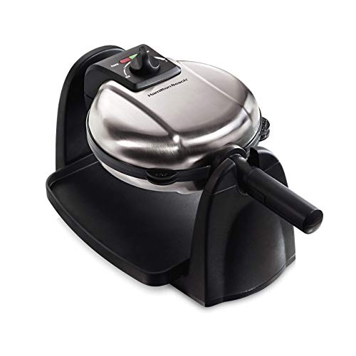 Hamilton Beach 26030 Flip Belgian Waffle Maker with with Removable Plates, Black Nonstick (Renewed)