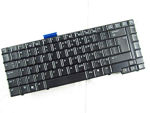 KinFor Brand Keyboard for HP COMPAQ 6530B 486279-001 V061126B31 US Keyboard Black + Clear Protector Cover