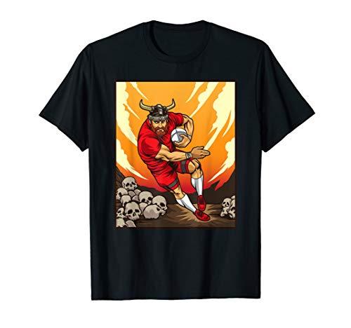 Wikinger Rugby Spieler - Nordische Gewinner - Rugby Team T-Shirt