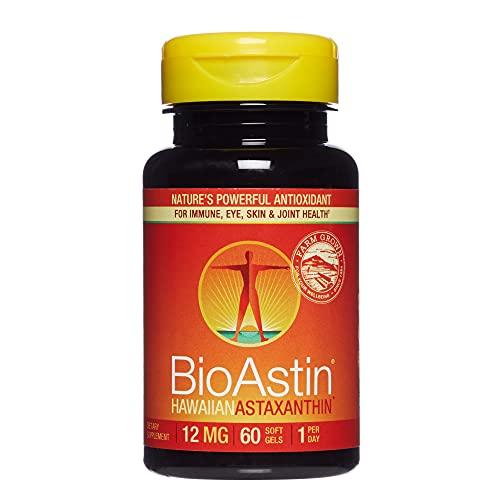 Nutrex Hawaii, BioAstin Hawaiian Astaxanthin 12 mg, Boosts Immunity and Supports Eye, Skin and Joint Health, 60 Count