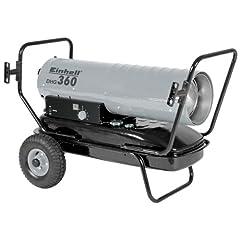 Einhell diesel hete lucht generator DHG 360 (230V, verwarmingscapaciteit 36 kW, 38 l tank, elektrische ontsteking, thermostaat, tank indicator, oververhitting bescherming)*