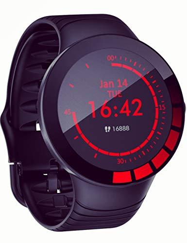 Smartwatch für Herren, Fitness-Armband, mit Herzfrequenzmesser, Kalorienzähler, IP67-Farbdisplay, wasserdicht, 1,28-Zoll-iOS und Android
