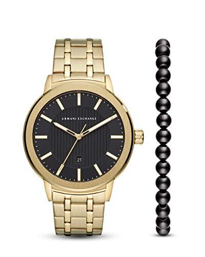 Armani Exchange Herren Analog Quarz Uhr mit Edelstahl Armband AX7108