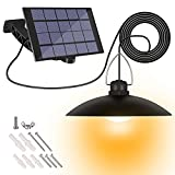 Luz Solar, Zorara Lámpara colgante solar con ajustable a 180° panel solar e interruptor de tiro para exterior, Lámparas Solares para Exterior Impermeable IP65 para Exterior/Interior,Jardín,Camping