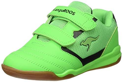 KangaROOS Race Comb V Sneaker, Neon Green/Jet Black 8028, 30 EU