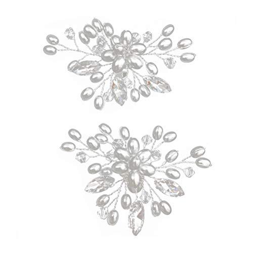 BESTOYARD Zapatos de cristal hebillas clip en adornos de zapatos horquillas de bricolaje zapatos accesorios para boda novia mujeres