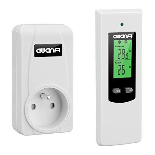 AWANFI - Presa termostato per ambiente senza fili con telecomando per radiatore elettrico e condizionatore mobile