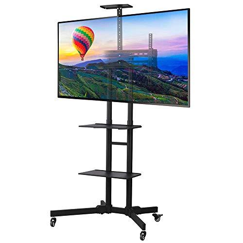 Mobile Porta TV con Peso max TS1351 45.5 kg e VESA 200 x 200-600 x 400 ONKRON Supporto TV Carrello TV da Pavimento con Ruote Porta Robusto per 32 a 65 pollici LCD LED