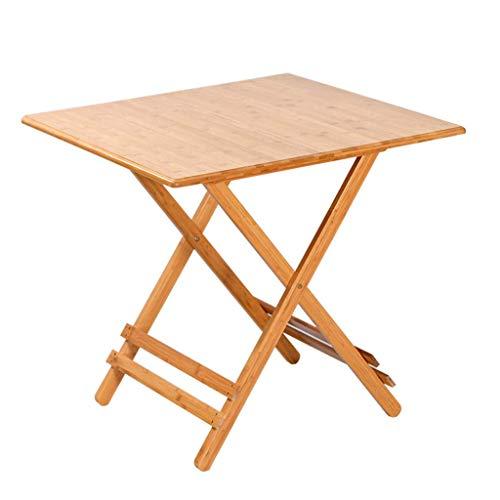 ZXL kleine vierkante klaptafel voor thuis, vrijstaande en draagbare eettafel Volledige bamboe eettafel Eenvoudige stevige en duurzame tafel (grootte: L-80cm)