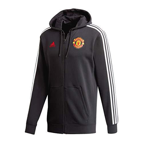 adidas Manchester United Temporada 2020/21 MUFC 3S FZ HD Chaqueta con Capucha, Unisex, Negro, S