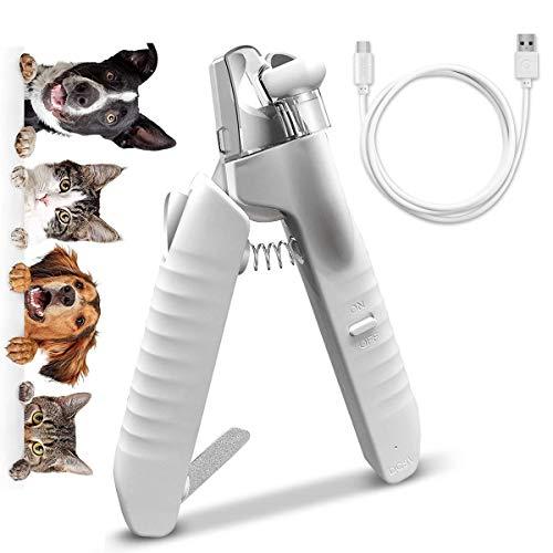 EACHEN Krallenschere Nagelknipser Pet Trimmer mit LED Licht für Hunde & Katzen Nagelschneider, Hochwertige vergrößerte Schneidklinge, Professionelle Pflegewerkzeuge mit stabilen rutschfesten Griffen