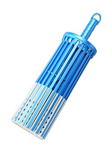洗濯 物干し ハンガー LD 伸びる パラソルハンガー ブルー 20本掛け 洗濯物の大きさにあわせてアームの伸縮ができます