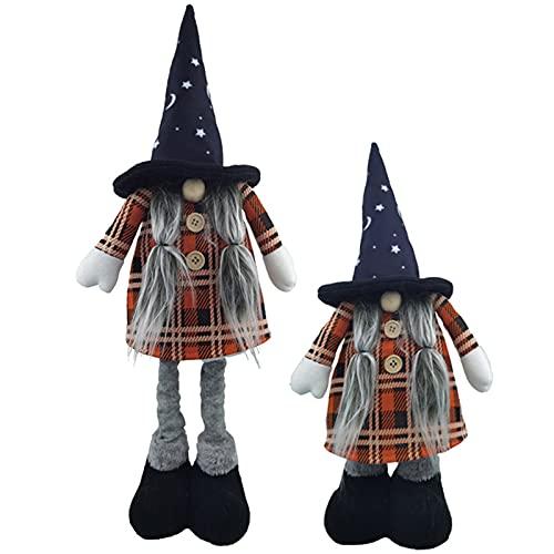 1 piezas Juguetes de peluche de gnomo de Halloween sin rostro muñeca hecha a mano Swedish Gnomos adornos Decoración de felpa Elf Enano Hogar para decoración de escritorio de Halloween B