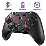 Controller für Nintendo Switch, PICTEK Bluetooth Wireless Switch Pro Controller mit Wiederaufladbarer Akku, Dual Shock und Turbo Funktionen, Gamepad mit 6-Achsen Gyrosko-Schwarz