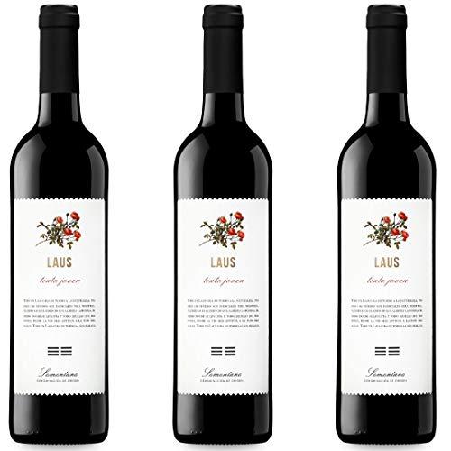 Laus Tinto Joven Vino Tinto  - 3 botellas x 750ml - total: 2250 ml