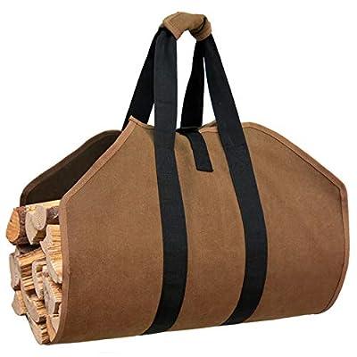 Amazon - Save 10%: Gialer Canvas Firewood holder Carrier Bag, Large Canvas Log Tote Bag Hea…