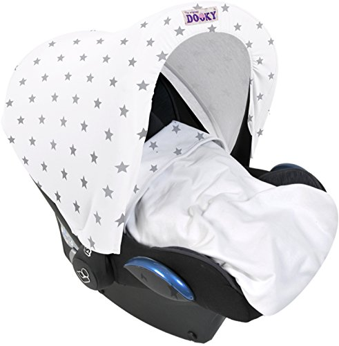 Dooky Blanket (Silver Stars) Dooky A universal and multifunctional blanket Made from 100% luxurious breathable cotton Perfect for any car seats, pushchairs, prams or carry cots 5