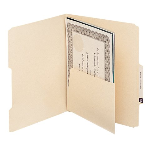 Smead 68030 MLA Self-Adhesive Folder Dividers with 5-1/2 Pockets on Both Sides (Pack of 25)