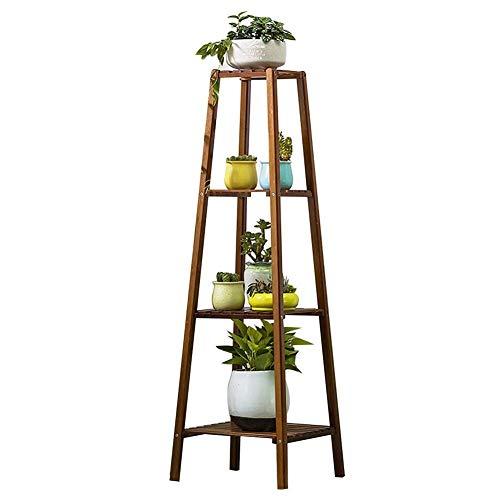 YXB Bloem Stand Bamboe Multi-layer Binnen Balkon Plant Stand Tuin Decoratie Outdoor Bloem Display Rack,Bruin (Maat: 75cm)