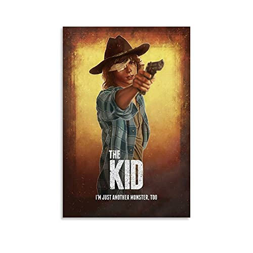 XIAOSHIFU TV Play Poster The Walking Dead Carl Grimes Canvas Poster Decorative for Room Aesthetic Wall Art Living Room Bedroom Painting 08x12inch(20x30cm)