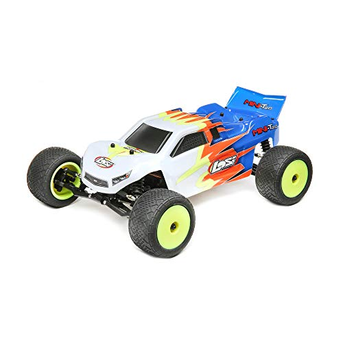 Losi 1/18 Mini-T 2.0 2WD Stadium RC Truck Brushed Ready to Run (Battery, Receiver, Charger and Transmitter Included) Blue/White, LOS01015T2