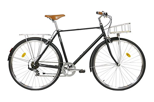 Fabric City Classic-Bicicleta de Paseo (M-53cm, Classic Matte Black Deluxe)