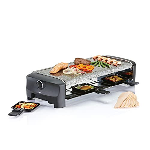 Princess 162830 Raclette 8 Stone Grill Party, 1300 W, Pietra ollare