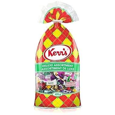Kerr's Deluxe Fresno Mall Assortment Candies Super Special SALE held Mints Caramels Bonbons Noug