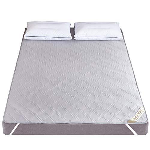 DACANS(ダカンス)ベッドパッド快適敷きパッドひんやり接触冷感クール速乾エアーメッシュ夏用洗えるマットレスパッド抗菌・防臭・防ダニ四隅ズレ防止ゴムバンド付き(接触冷感タイプグレーキング・180X200cm)