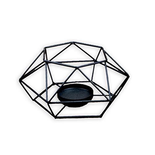 Portacandele in Metallo con candeliere Geometrico 3D in Stile Americano cdhgsh per Decorazioni per...