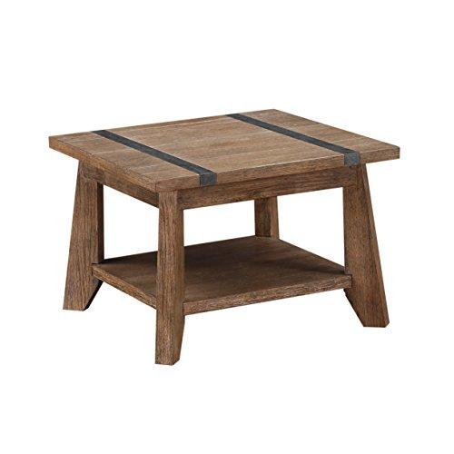 Emerald Home Furnishings Viewpoint End Table Beistelltisch, Hartholz, Treibholz Grau, Standard