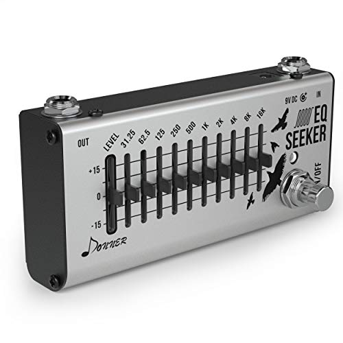 Donner Equalizer Gitarre Pedal 10-Band EQ Seeker Effektpedal True Bypass