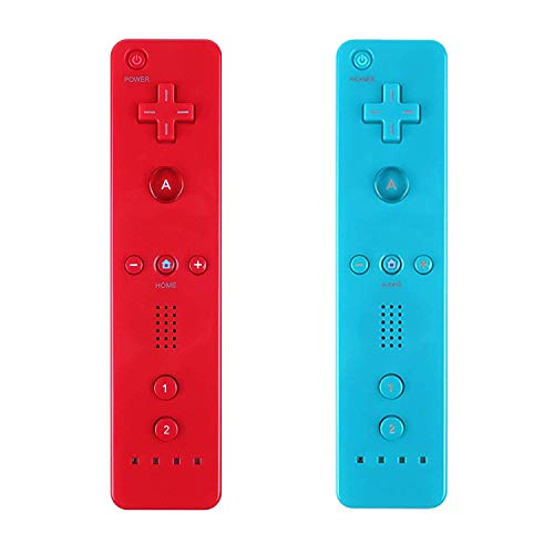 Yosikr Wireless Remote Controller for Wii Wii U - 2 Packs Red and Blue