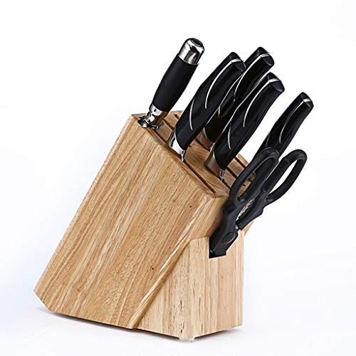 ZHANMAGS Bloque Universal para Cuchillos Soporte de Bloque de Cuchilla vacío sin Cuchillos, Pantalla de Cuchillo de Madera para la Cocina Counter Restaurant Bar Almacenamiento Organizador 0331
