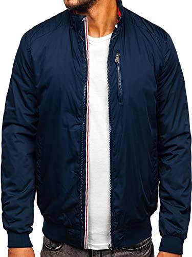 BOLF Herren Übergangsjacke Steppjacke Daunen-Optik Casual Elegant Leichte Frühlings Jacket Moderne Männer Jacke EXTREME 1907 Dunkelblau M [4D4]