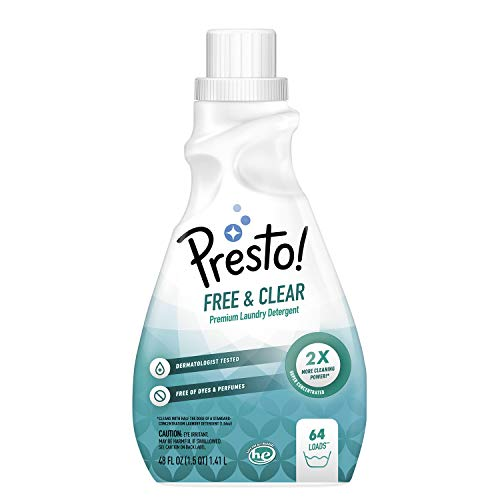 (25% OFF Deal) Presto! Concentrated Liquid Laundry Detergent, Free & Clear $8.91