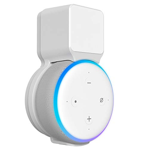 Outlet Wall Mount Holder for Echo Dot 3rd Generation, Belkertech Space-Saving Accessories for Echo Dot (3rd Gen) Clever Dot Accessories with Built-in Cable Management Hide Messy Wires, White