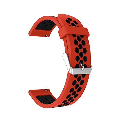 LiQinKeJi8 Correas de Reloj Banda de Silicona for Samsung Gear S3 Frontier/Classic 22mm Reloj Correa de Reloj Reemplazar Pulsera for Samsung Galaxy Watch 46mm Pulsera para los Hombres